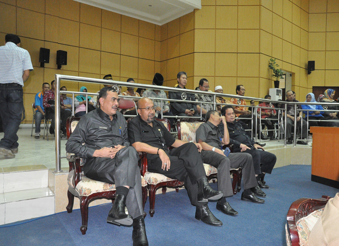Para kepala OPD Bintan yang hadir di acara rapat paripurna di DPRD Bintan