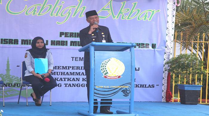 Wakil Wali Kota Tanjungpinang, Syahrul menyampaikan sambutan.