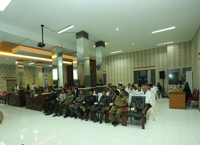 Para undangan yang hadir saat penyampaian LKPJ Bupati tahun anggaran 2017