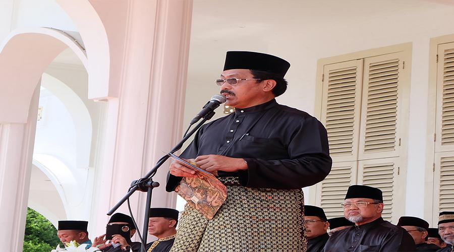 Gubernur Kepri, Nurdin Basirun saat memberikan sambutan