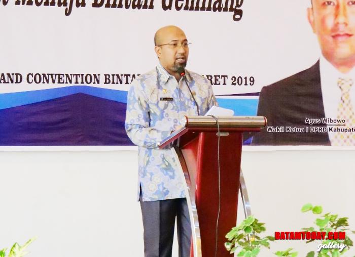 Kepala Dinas Bapeda Bintan Luki Zaiman Prawira saat memberikan sambutan