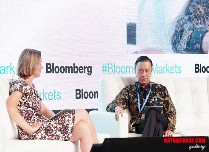 Kepala BKPM RI Thomas Lembong saat menjadi pembicara di kegiatan IMF - WBG 2018