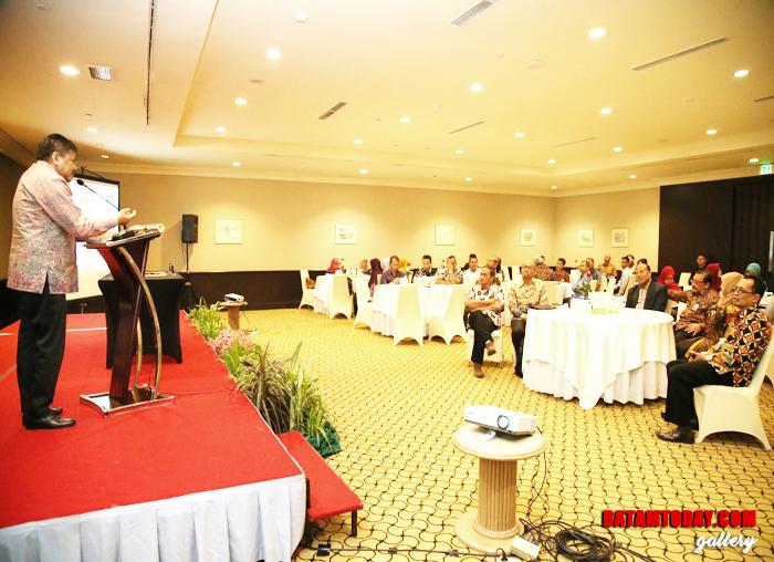 Kepala BP Batam saat menyampaikan sambutannya pada acara Workshop di Surabaya