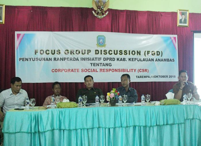 Anggota Badan Legislasi DPRD Anambas, Firman Edi menyampaikan tujuan Ranperda CSR