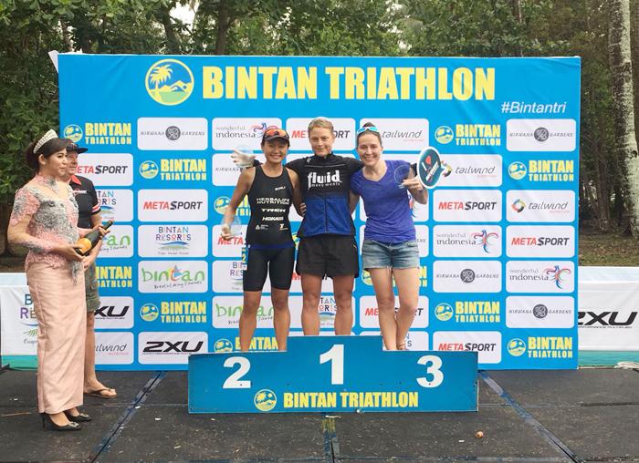 Tiga Atlit wanita yang menjadi tercepat di event Bintan Triathlon 2018