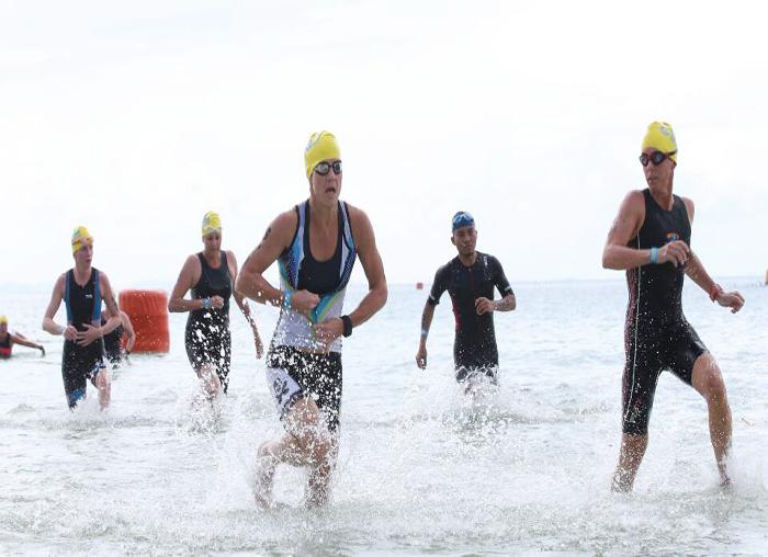 Peserta saat usai dari tantangan pertama (berenang)