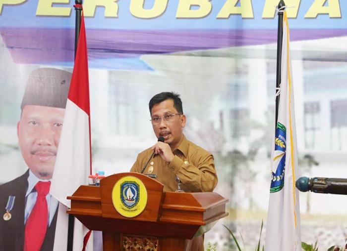 Sekretaris Daerah Provinsi Kepulauan Riau TS Arif Fadillah menyampaikan pidato