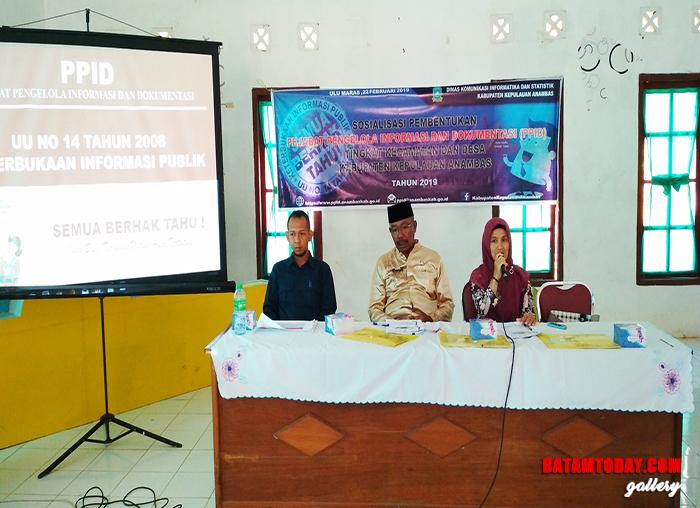 Kepala Bidang informasi, komunikasi publik dan persandian Diskominfotik Kabupaten Kepulauan Anambas saat memberikan materi