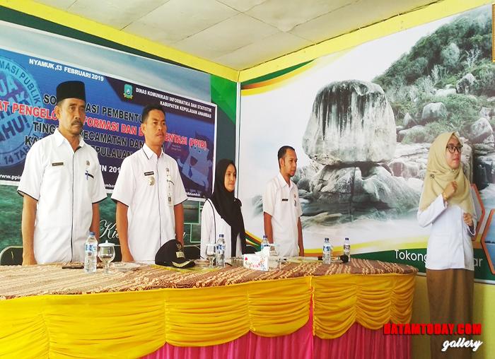 Pelaksanaan sosialisasi PPID di Kecamatan Siantan Timur