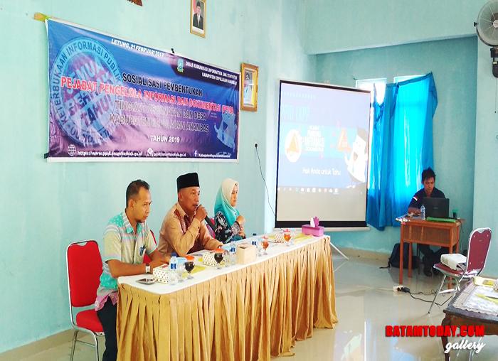 Sosialisasi pembentukan PPID di Kecamatan Jemaja