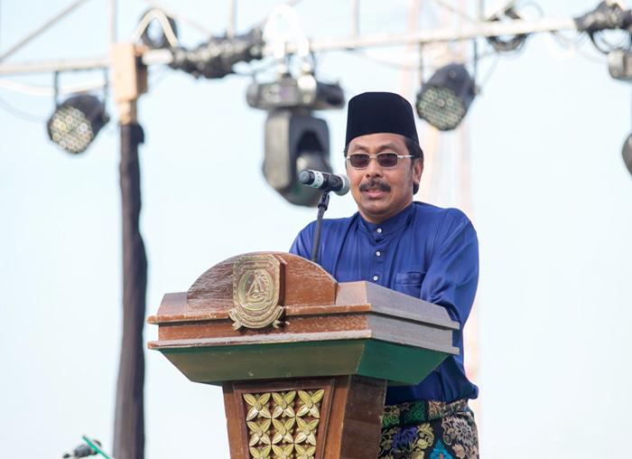 Gubernur Provinsi Kepri menyampaikan kata sambutan pada pembukaan Festival Padang Melang 2018