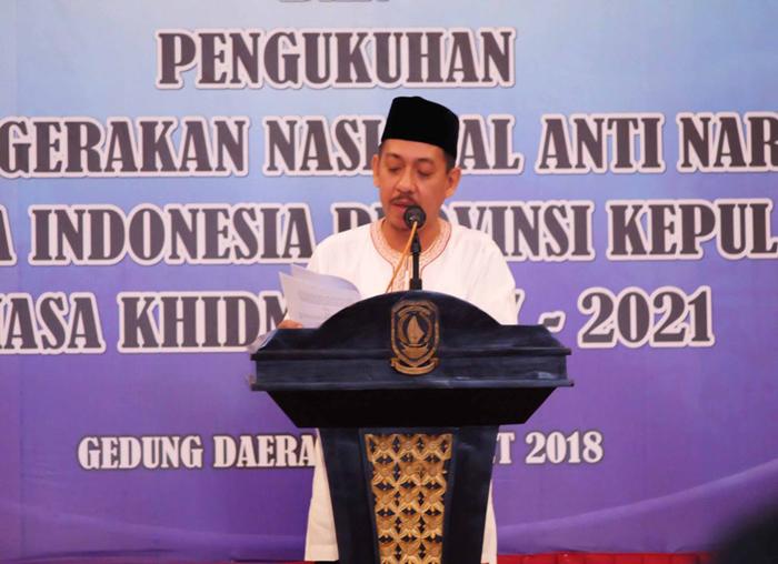 Wakil Ketua Umum Ganas Anar MUI Pusat, Nur Sidarta, memberikan sambutan.