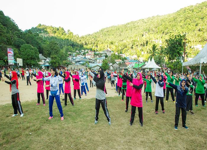 Seluruh peserta senam sehat semangat merupakan rangkaian hari jadi KKA ke 10