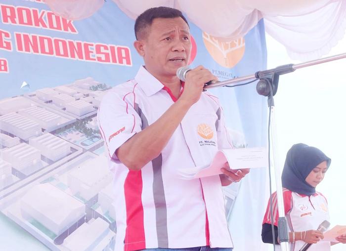 Direktur Utama PT Megatama Batu Karang Indonesia (MBKI) Sunadi menyampaikan pidato