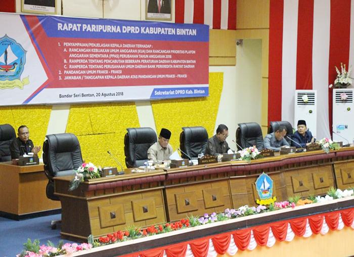 Suasana Saat Rapat Paripurna DPRD Bintan