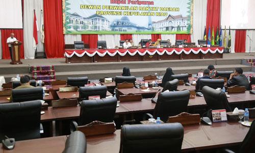Suasana sidang paripurna DPRD tentang pandangan masing-masing fraksi DPRD terhadap LPP APBD 2016.