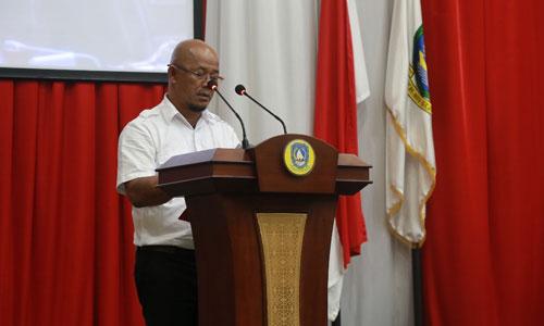 Jurus Bicara Fraksi DPID saat menyampaikan pandangan fraksinya.
