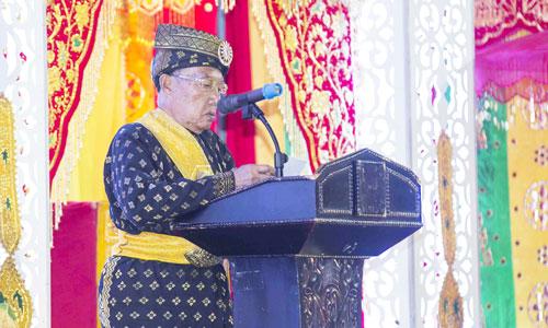 Sekretaris LAM Provinsi Kepri memberikan kata sambutan.
