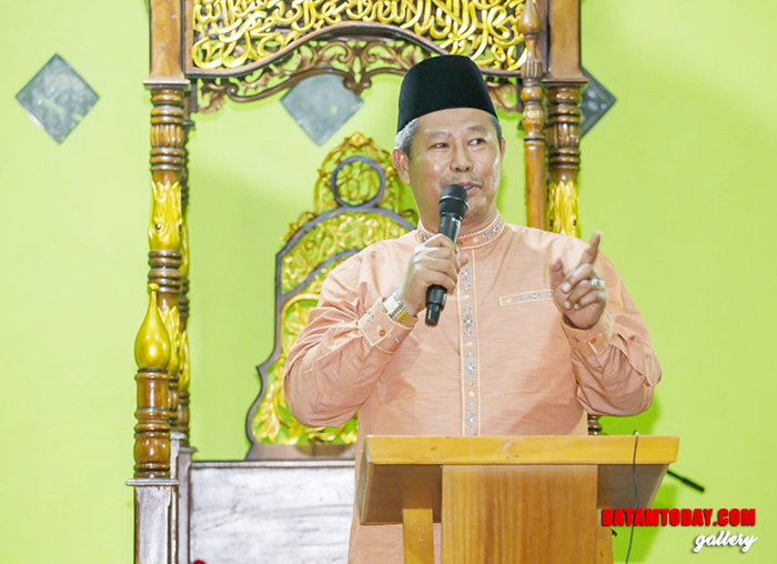 Bupati Kabupaten Kepulauan Anambas, Abdul Haris saat memberikan sambutan