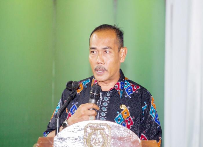 Kepala Dinsos P3APMD, Ody Karyadi menyampaikan laporan kegiatan Bursa Inovasi Desa