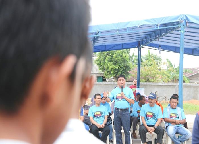 Sambutan Wakil Bupati Bintan Dalmasri Syam saat pembukaan World Cleanup Day (WDC) di Bintan