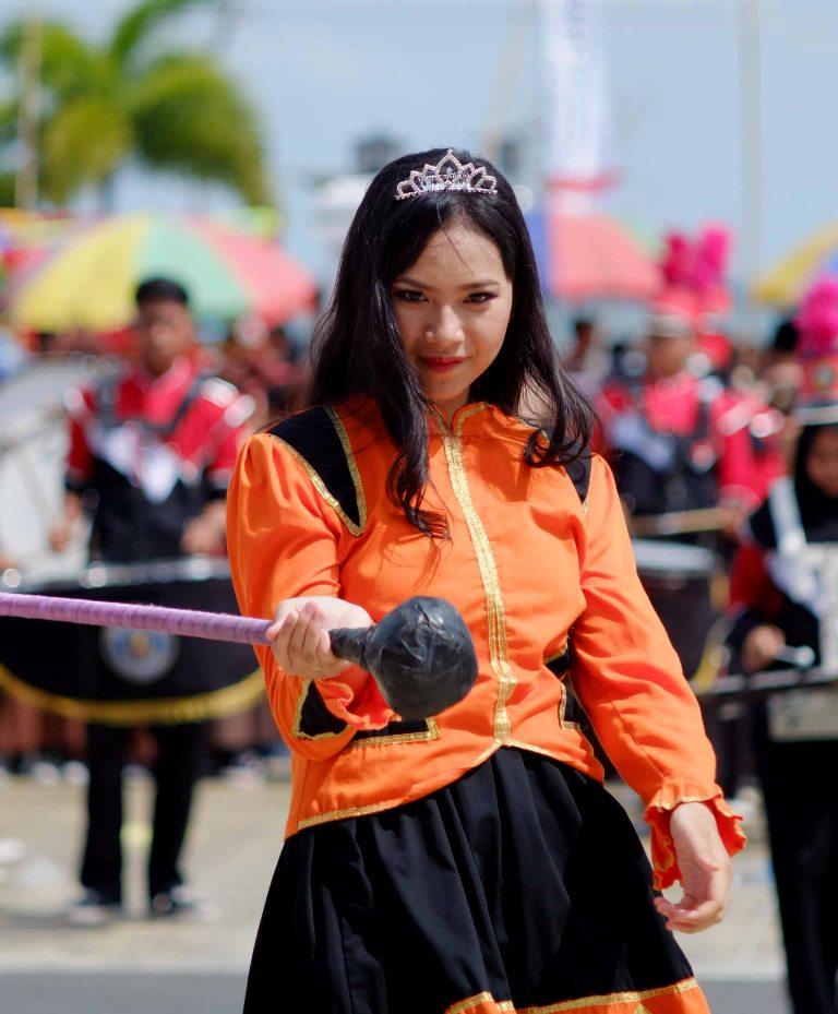 Atraksi Marching Band dari pelajar juga turut meramaikan peringatan HUT Pramuka ke-56 di Gedung Daerah, Tanjungpinang