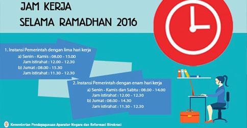 Ini Waktu Jam Kerja Asn Selama Bulan Ramadan 1440 Hijriah